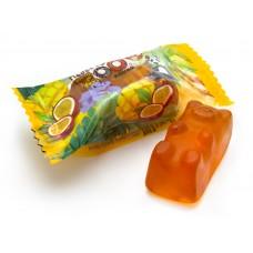 .Мармелад жевательный с желейной нач. 1 кг (в уп 4 кг) «Побег из ZOOпарка» со вкусом манго-маракуйя весовой
