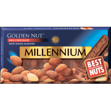 Шоколад молочный Golden Nut с миндалем 100г