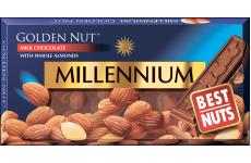 Шоколад молочный Golden Nut с миндалем 100г