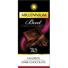 """Шоколад """"Millennium"""" Favorite Brut черный 74%, 100г*30шт"""