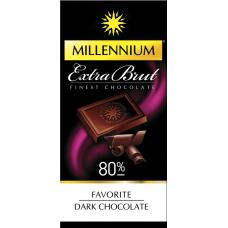 """Шоколад """"Millennium"""" Favorite Extra Brut черный 80%, 100г*30шт"""