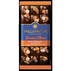 Шоколад молочный Fruits&Nuts с курагой 80г