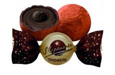 """Конфеты 1 кг (в уп. 4 кг) """"Марсианка"""" Трюфель с комбинированными кремовыми начинками глазированные вес."""
