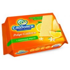 """Вафли """"Ретро-Сладонеж"""" с лимонным вкусом 300г"""