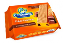"""Вафли """"Ретро-Сладонеж"""" с шоколадным кремом 300г"""