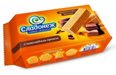 """Вафли """"Сладонеж"""" с шоколадным кремом 170г"""